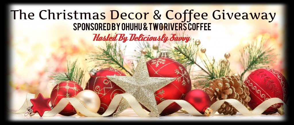 christmas decor and coffee