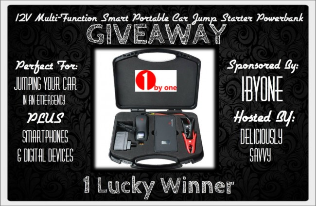 Portable Car Jump Starter Powerbank giveaway